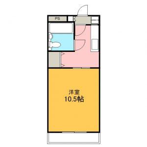 1・2・5号室間取図