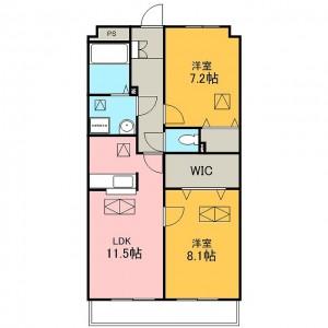 1・3・6号室間取図